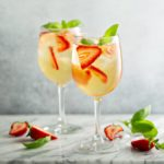 Summer-white-sangria-with-strawberries-and-basil