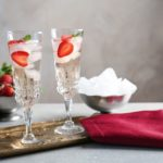 Glasses-with-delicious-wine-spritzer-on-golden-tray